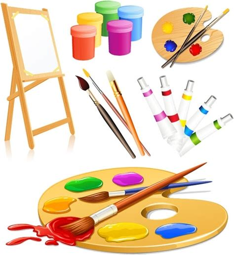 drawing and painting free vector drawing tools supplies free vector in encapsulated