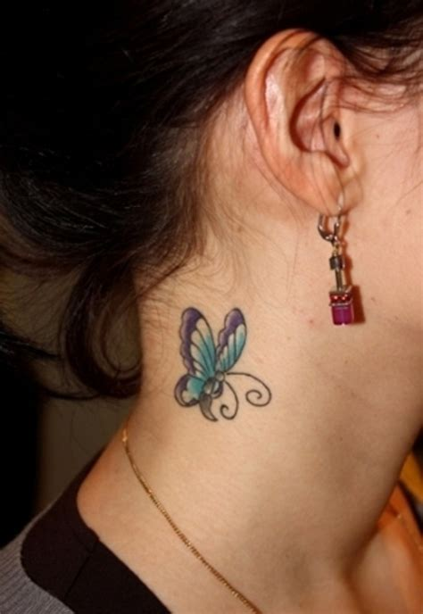 cute neck tattoos 63 beautiful neck butterfly tattoos