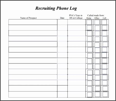 38 free printable attendance sheet templates 9 phone log for free sletemplatess sletemplatess