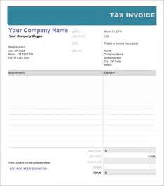 Tax Invoices Template by 10 Tax Invoice Templates Free Documents In