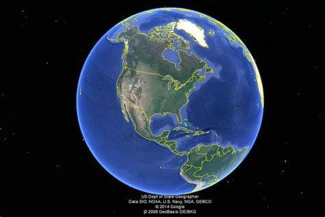 google images globe where s the center of google earth