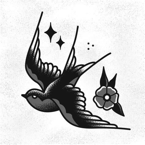 black and white swallow tattoo designs davisrider traditional i made instagram