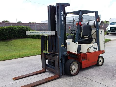 1997 nissan optimum 80 propane eng 8000 lb box car fork lift