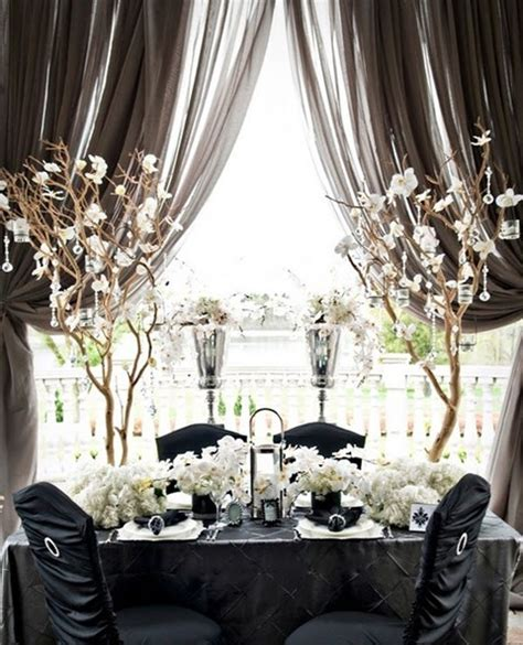White Table Settings Black And White Wedding Centerpieces Breeds Picture