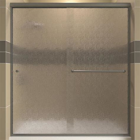 Arizona Shower Door Shop Arizona Shower Door Lite 50 In To 54 In Frameless Brushed Nickel Shower Door At Lowes