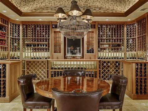 Tuscan Chandelier 41 Custom Luxury Wine Cellar Designs