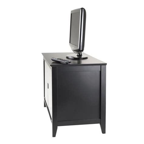 Black Tv Stands With Glass Doors Vidal Tv Stand Glass Doors In Black 20332
