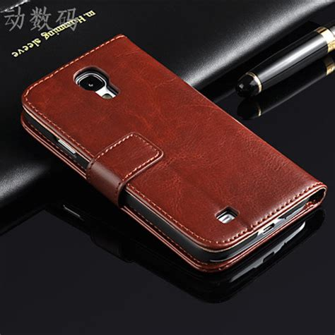 Dicodes Leather Cover No 6 s4 brand new original cell phone flip wallet leather cover for samsung galaxy s4