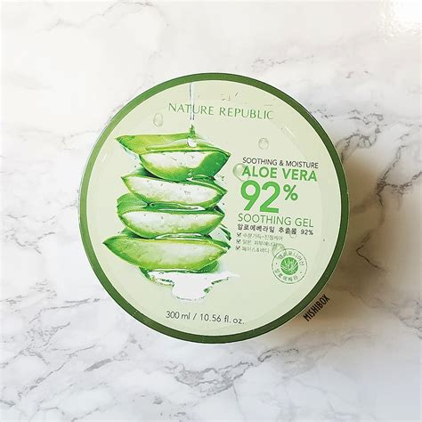 Nature Republic Aloe Vera 92 Soothing Gel 300ml nature republic aloe vera 92 soothing gel mishibox