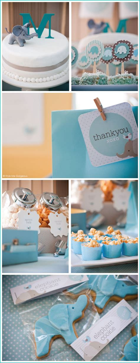 Baby Boy Elephant Themed Baby Shower by Elephant Themed Baby Shower Ideas