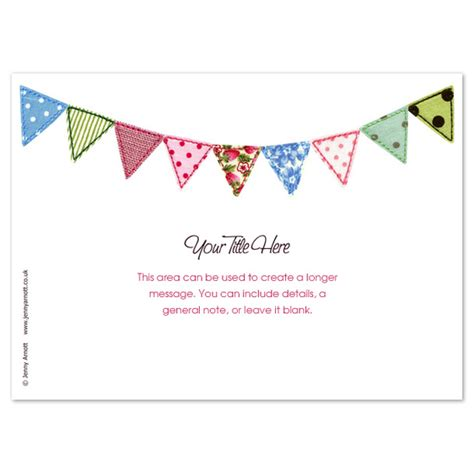 wedding invite template bunting invite