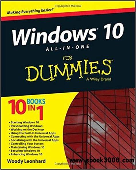 windows 10 all in one for dummies free ebooks