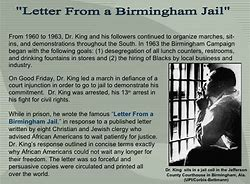 Dr martin luther king jr letter from birmingham jail essay