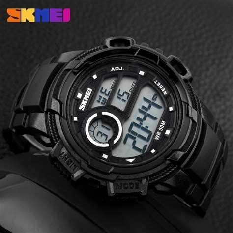 Jam Tangan Led Aircraft White skmei jam tangan sporty digital pria dg1113 black