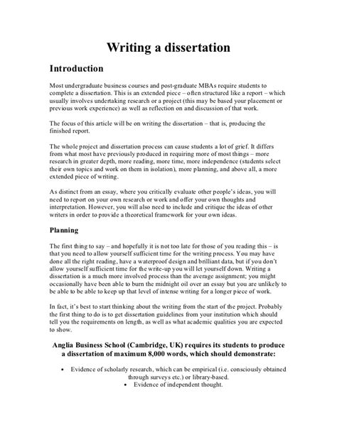 what to include in dissertation introduction writing a dissertation