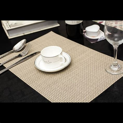 Dining Table Placemats Set 4pc Set Pvc Drying Placemats Insulation Mats Coasters Kitchen Dining Table Ebay
