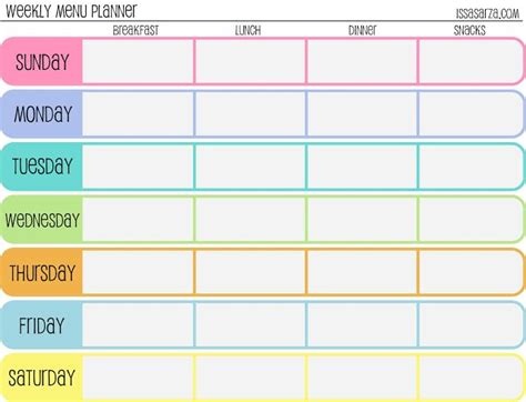 pretty printable meal planner weekly meal planner template cute let birds fly fun