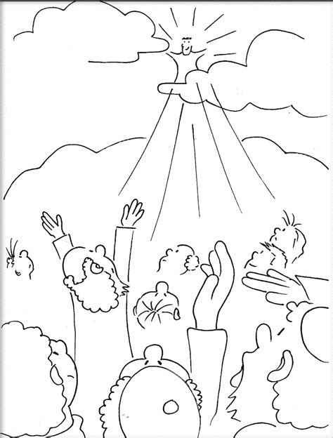coloring pages ascension of jesus the ascension of jesus