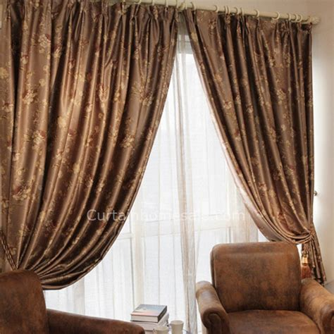 tall curtains french floral patterns blackout living room luxurious tall