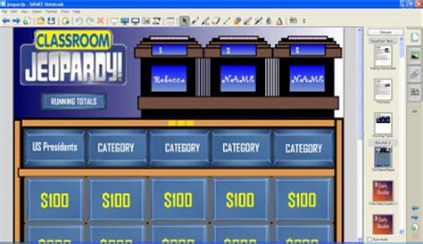 The Science And Technology Lady Classroom Jeopardy For Smart Notebook Version 10 Smartboard Jeopardy Template Free