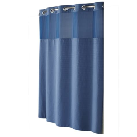 solid blue shower curtain shop hookless polyester moonlight blue diamond pique solid