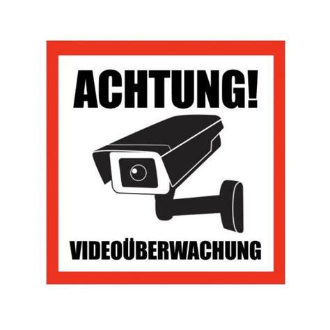 Aufkleber Auto Kamera by Aufkleber Achtung Video 252 Berwachung