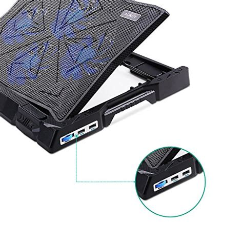 Cooling Pad Laptop 14 aukey laptop cooling pad 14 quot 15 6 quot laptop cooler with 2