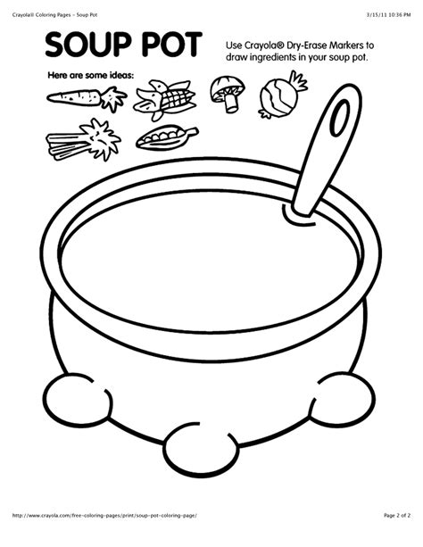 soup template free coloring pages of soup pot coloring page crayola in