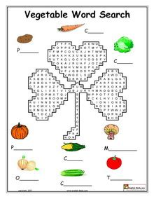 printable crossword puzzles vegetables esl vegetable vocabulary worksheets