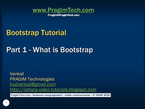 tutorial bootstrap validation sql server net and c video tutorial what is bootstrap
