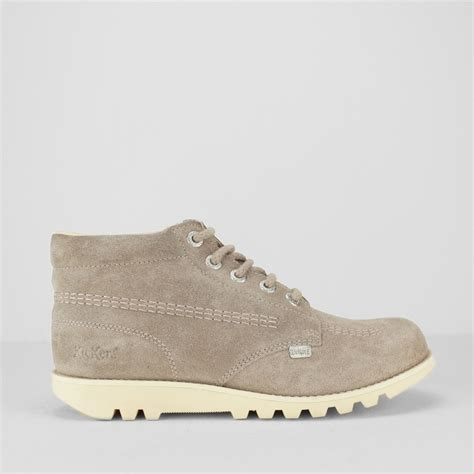 Kickers Boots Suede kickers kick hi suede leather boots light brown