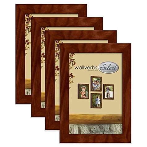bed bath and beyond picture frames wallverbs 4 piece wooden frames bed bath beyond