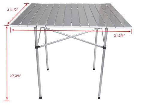 roll up portable table portable cing table aluminum folding roll up outdoor
