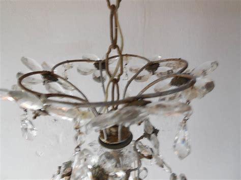 Prisms For Chandeliers Prisms Flowers Chandelier At 1stdibs