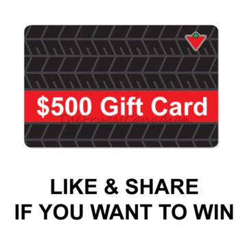 Canadian Gift Cards - free 500 canadian tire gift card being given away frugal canadians
