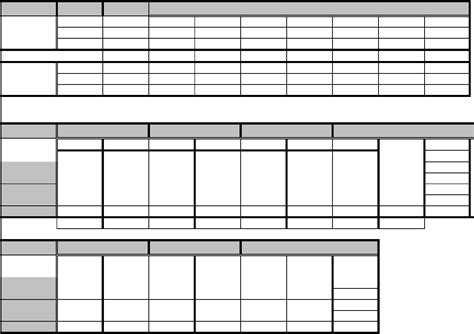 Chart Size Chart Template Template Size