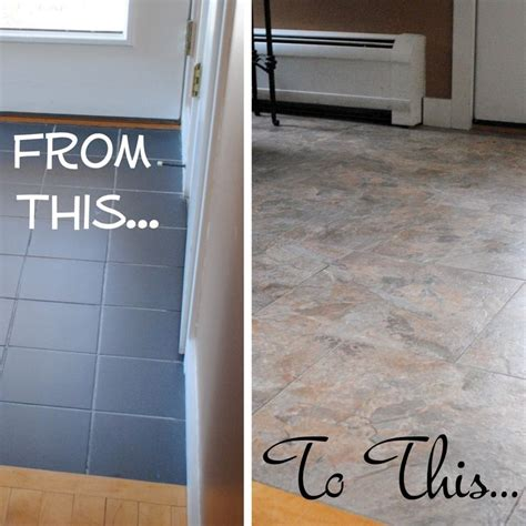 did you know that you can grout peel and stick vinyl tiles