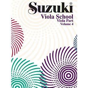 Suzuki Book 4 Viola Alfred Suzuki Viola School Volume 4 Book Musician S Friend