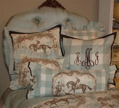 equestrian bedding it s quot toile quot about you and your home equestrian stylist