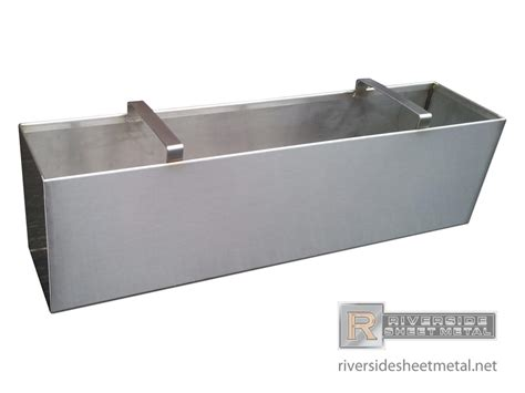 Stainless Planter Boxes by Stainless Steel Number 4 Finish Planter With Handles