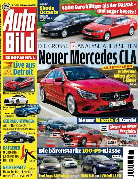 Auto Bild Sportscars Januar 01 by Auto Bild Magazin No 03 Vom 18 Januar 2013 187 Archive