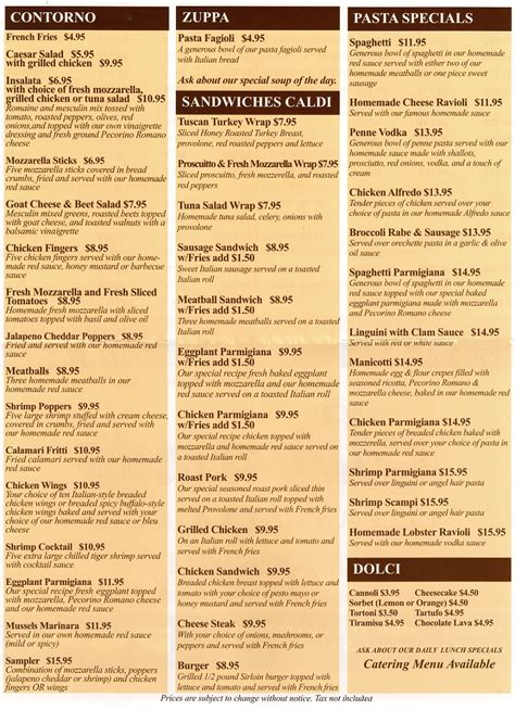 new year banquet menu perth sciortino s restaurant and pizza in perth amboy eat in