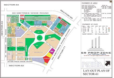 layout plan of noida layout plan of noida sector 61 hd map