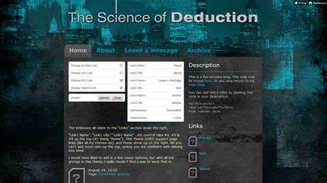 themes tumblr sherlock themes by eris the science of deduction live preview