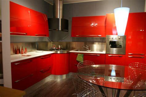 cucine outlet scavolini cucina scavolini flux moderna laccato lucido rossa