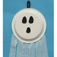 paper plate ghost craft paper plate ghost