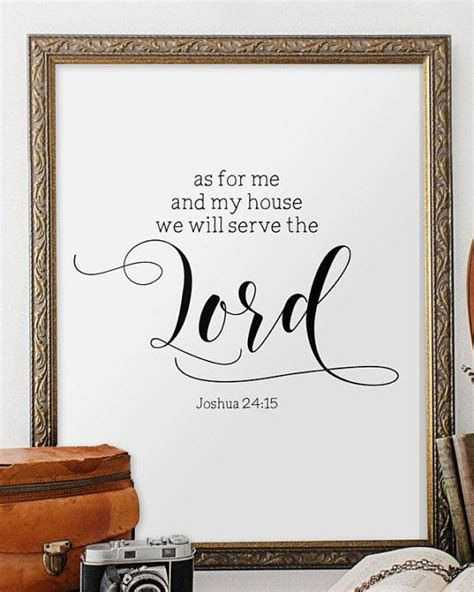 Bible Verses For The Home Decor printable bible verse as for me and my house print