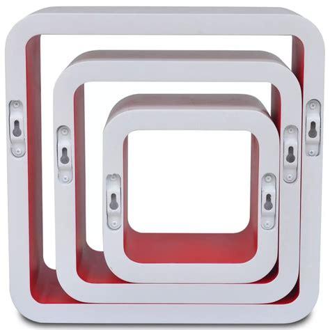 mensole rosse articoli per 3 mensole per pareti bianche rosse mdf per