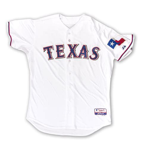 texas rangers baseball uniform 2014 lot detail yu darvish autographed authentic texas