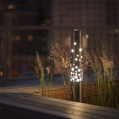 Landscape Lighting Bollards Our Light Column Bollard With Bubbles Shield Delivers The